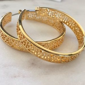 Tory Burch Jewelry - New tory burch hoop earrings
